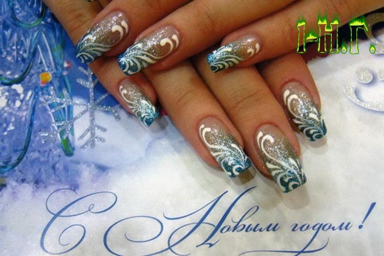 дизайны ногтей новогодние фото